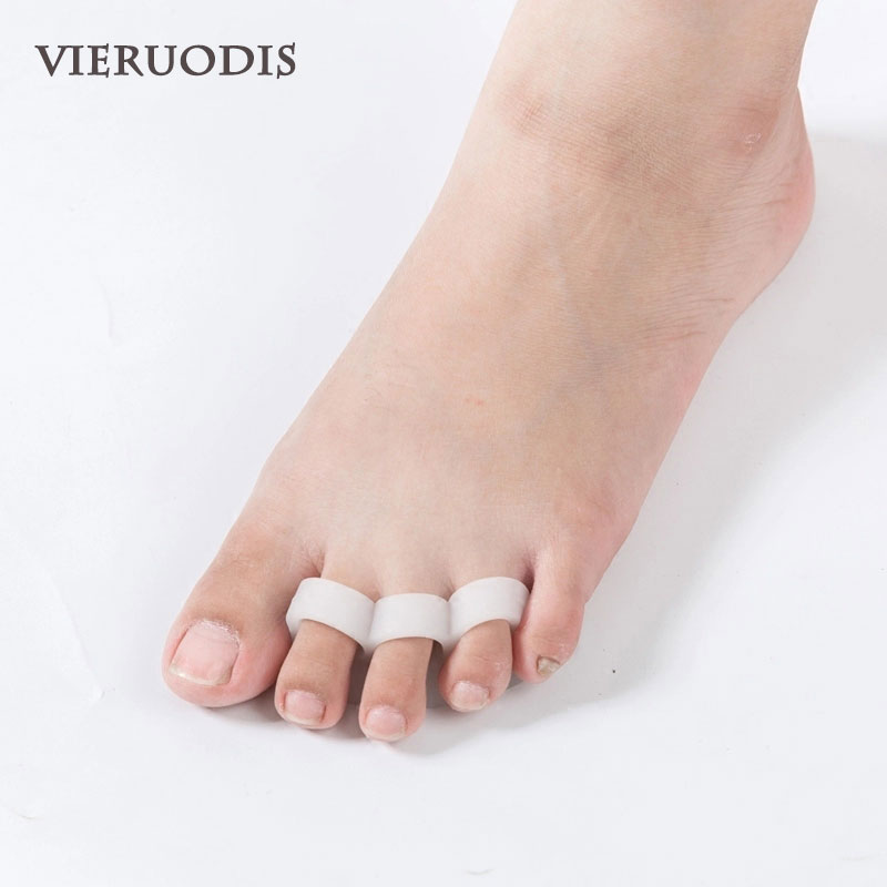 Gel silicone Toe Separators Stretchers Alignment Overlapping Toes Orthotics Hammer Orthopedic Cushion Feet Care Shoes Insoles