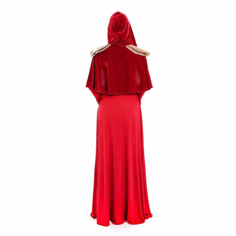 Хэллоуин Для женщин сексуальная богиня красный ведьмы костюм принцессы для взрослых и детей арабский танец живота Косплэй костюм