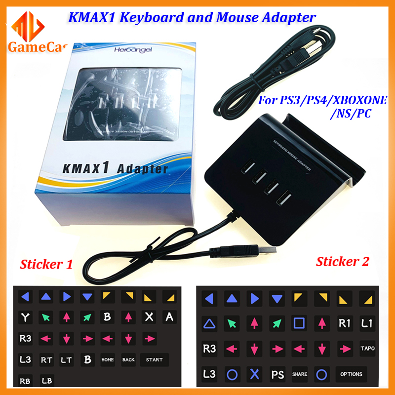 Heroangel KMAX1 USB Game Controllers Adapter Converter Video Game Keyboard Mouse Adapter For Switch/Xbox/PS4/PS3