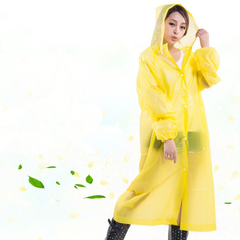 Reusable Women Raincoat Menn Poncho Transparent Impermeable Capa de Chuva Plastic Rain Coat Cover Camping Vanntett Regntøy