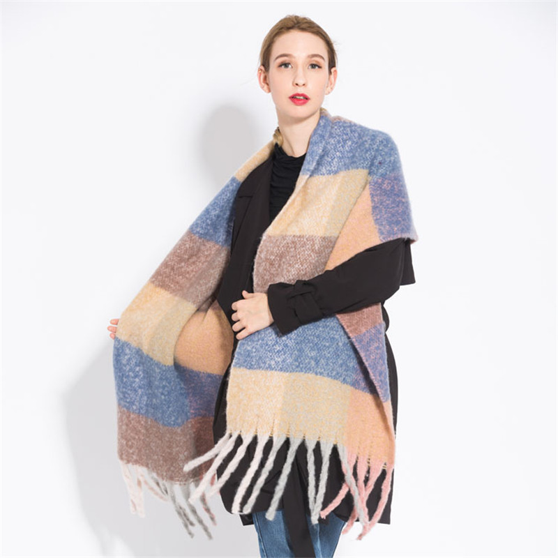 New Fashion Winter Warm Plaid Women Scarf Pashmina Thicken Blanket Shawls and Wraps Long Cashmere Female Dropshiping Women Women's Clothings Women's Scarf cb5feb1b7314637725a2e7: 1|3|4|5|6|7|8|10|11|12|13|14|9
