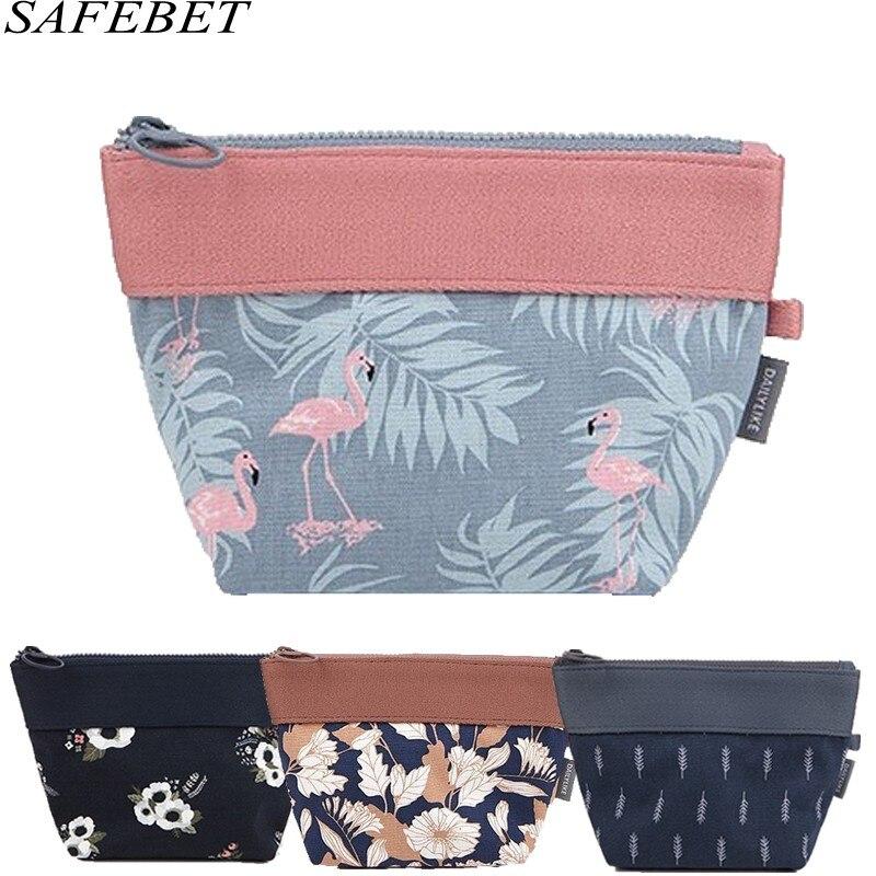 SAFEBET Cosmetic-Bags Organize Flamingo Travel Beauty Waterproof Necessity Portable Women