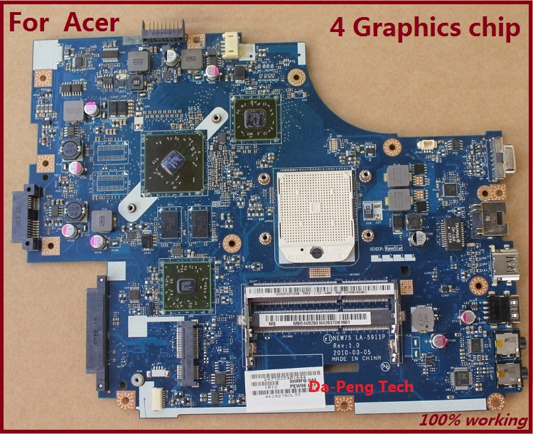 Laptop Motherboard FOR Acer 5551 5551G 5552 5552G  NEW75 LA-5911P
