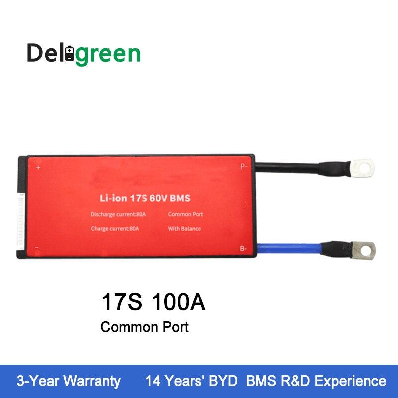 Deligreen 17S 100A 60V PCM/PCB/BMS for Li-PO LiNCM battery pack 18650 Lithion Ion Battery Pack Deligreen 17S 100A 60V PCM/PCB/BMS for Li-PO LiNCM battery pack 18650 Lithion Ion Battery Pack