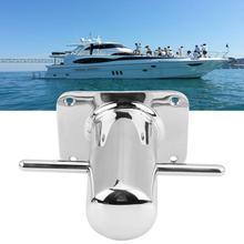 1Pcs Stainless Steel Boat Samson Post Cross Bollard Mooring Bit for Marine Yacht 120mm*90mm New Arrive Mooring Cleat Hardware