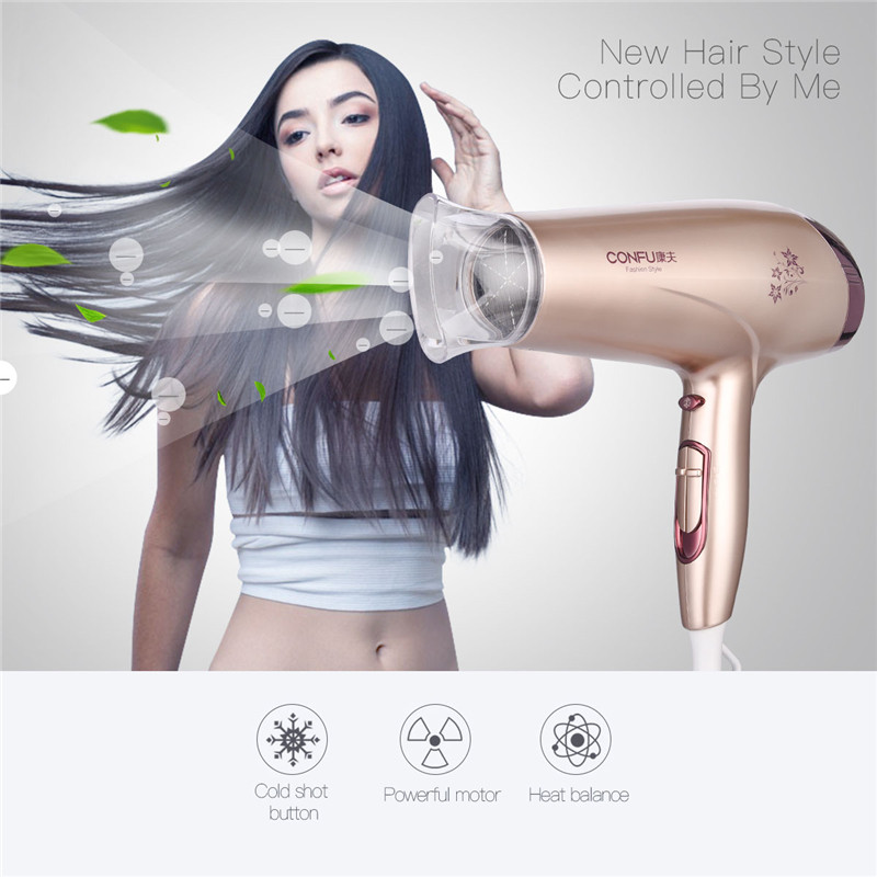 Fashion Hair Dryer Professional For Salons Household Blow Dryer Silent Hairdryer Machine High Power Barber Tools 220-240V 2200W electric professional hair dryer for hairdresser kf 8917 fukuda yasuo hairdryer high power hair dryer 220v 2200w