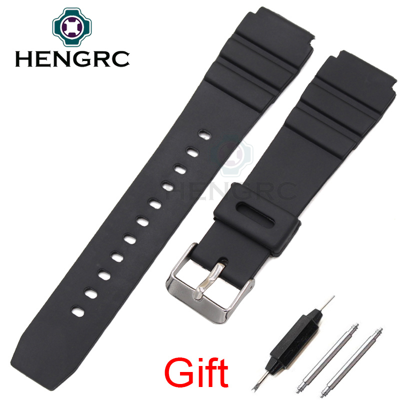 Rubber Watch Band Strap Sport Diving 18 20 22mm Men Silicone Bracelet With Silver Stainless Steel Metal Needle Buckle For Casio adult games sexy latex device sex fetish toys hot sale rubber hanging neck chest tight wrapped tools for women