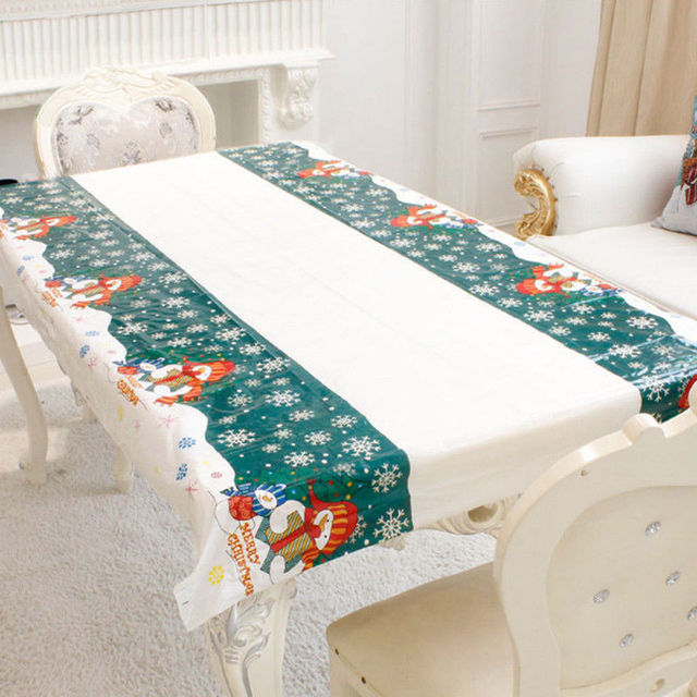 Christmas Disposable Tablecloth Festive Rectangle Oblong Table Cloth Xmas Tableware Dining Kitchen Table Cover 110cm By & Christmas Disposable Tablecloth Festive Rectangle Oblong Table Cloth ...