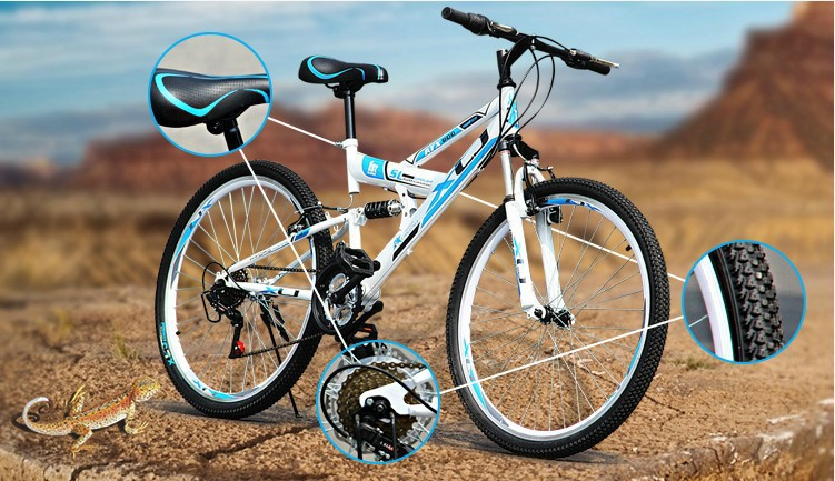 Brand New 2014 Double disc brake mountain bicycle full suspension 21speed bike - ShenZhen Google Outdoors store