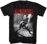 The Clash Smashing Guitar S M L XL 2XL 3XL Black T Shirt New 2017 Cotton