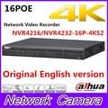 Original Dahua English version NVR4216-16P-4KS2/NVR4232-16P-4KS2 16/32 Channel 1U 16PoE 4K H.265 Lite Network Video Recorder
