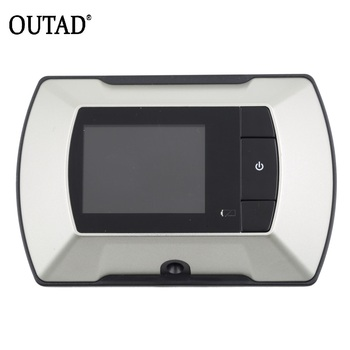 OUTAD High Resolution 2.4 inch LCD Visual Monitor Door Peephole Peep Hole Wireless Viewer Indoor Monitor Outdoor Video Camera DI