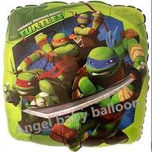 10pcs/lot 18inch globosTeenage Mutant Ninja Turtles balloons ninja turtles balloons Birthday Gift Party anime action Toy Figure