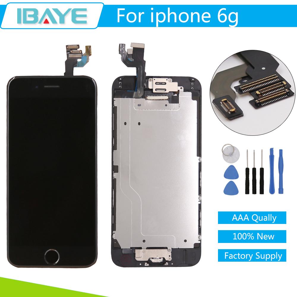 Prix pour Grade AAA LCD Complet Pour iPhone 6 Affichage LCD Tactile écran avec Digitizer Assemblée + Bouton Home & Caméra livraison outils
