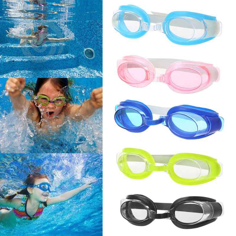 Children Kids Teenagers Adjustable Swimming Goggles Anti Fog Swim Eyewear Eyeglasses Sports Swimwear with Ear Plugs Nose Clip