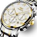 OLMECA Mode Militär Uhr Relogio Masculino 3ATM Wasserdichte Uhren Chronograph Armbanduhr Männer Edelstahl Band 6288|Quarz-Uhren|   -