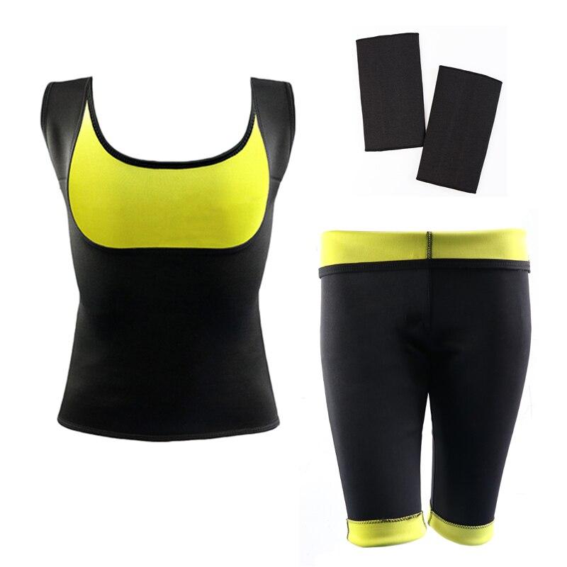 (Vest+Pant) Hot Shaper Body Shaper <font><b>Neoprene</b></font> Panties waist trainer Slimming Pants&Vest&Sleeve Super Stretch control DropShipping