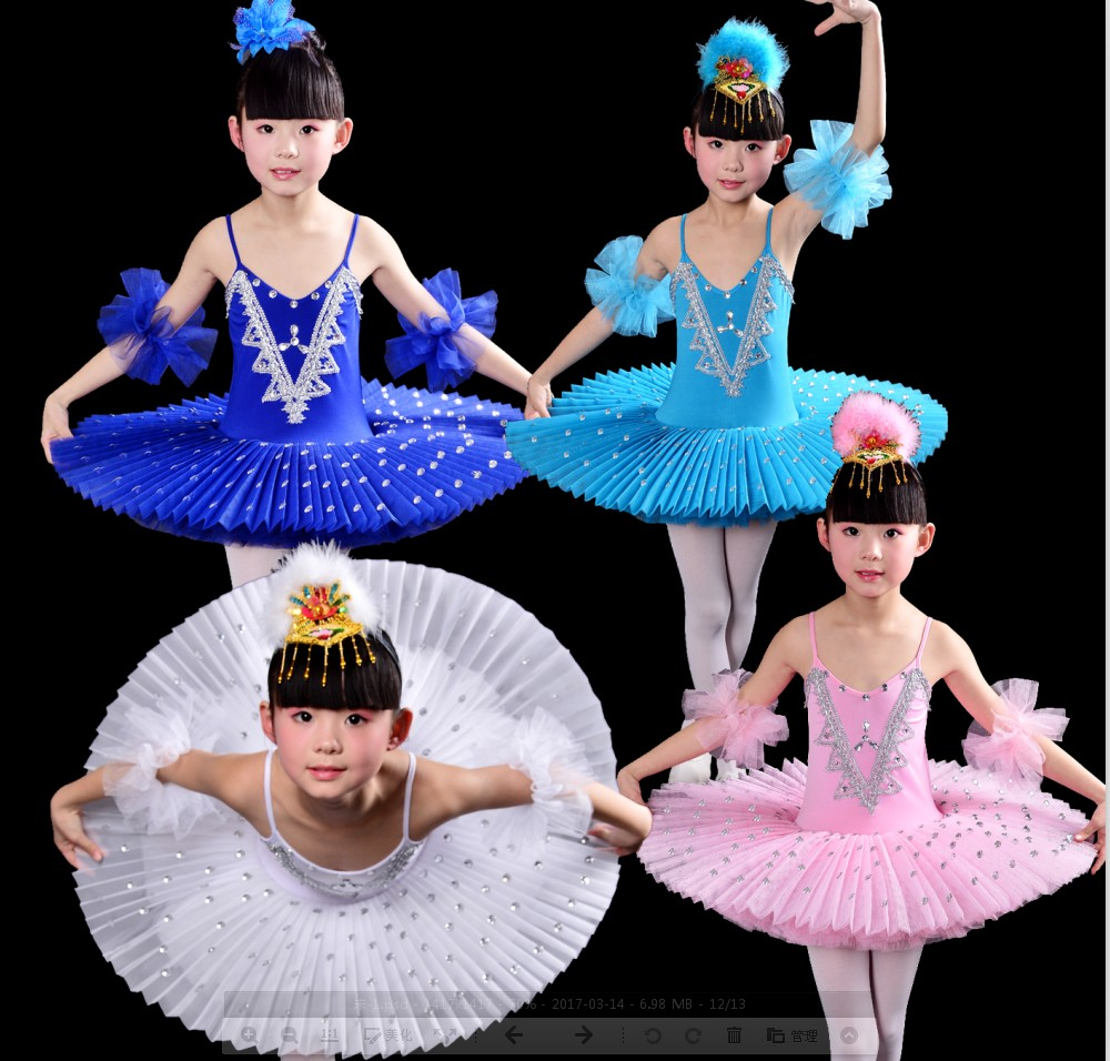 2017 filles gymnastique justaucorps Ballet danse robe blanc cygne lac Costume ballerine robe enfants Ballet robe enfants Ballet Tutu