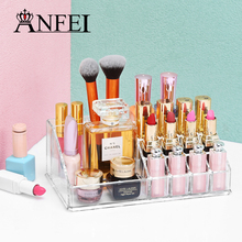 Clear Makeup Cosmetic Storage Jewelry Display Box Acrylic Case Stand Rack Makeup Tools Lipstick Holder Jewelry Storage Box