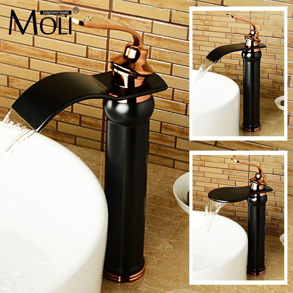 купить New arrival black bathroom sink faucet soild brass oil-rubbed bronze washbasin tap mixer torneira para banheiro по цене 4691.83 рублей