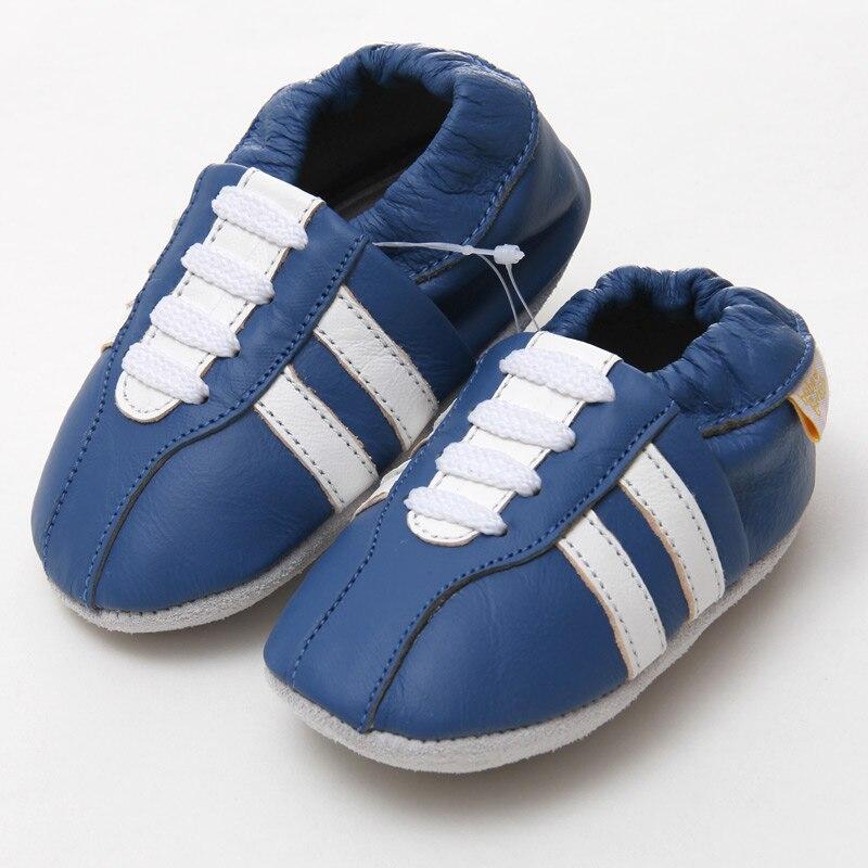 Echtes Leder Babyschuhe Mokassins Casual Babyschuhe Blue Boy - Babyschuhe - Foto 2