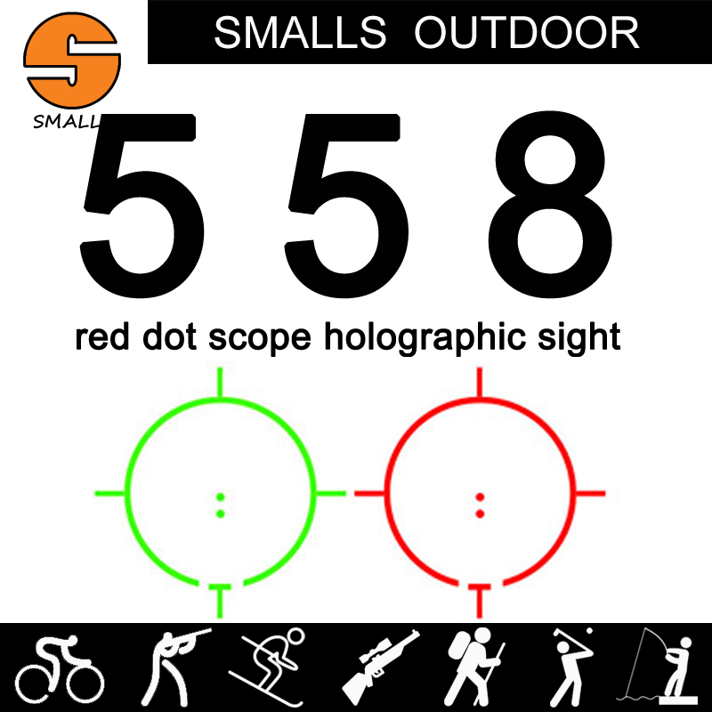 Tactical airsoft 558 Holographic sight Red Green Dot Sight red dot Scope for rifle scope for hunting black