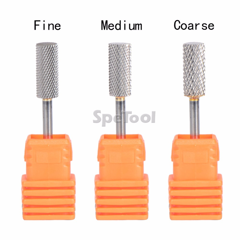 SpeTool 3 Sizes Available Tungsten Carbide Nail Drill Bit Pro Nail Art Tool Accessory For Electric Manicure Removing Gel PolishSpeTool 3 Sizes Available Tungsten Carbide Nail Drill Bit Pro Nail Art Tool Accessory For Electric Manicure Removing Gel Polish
