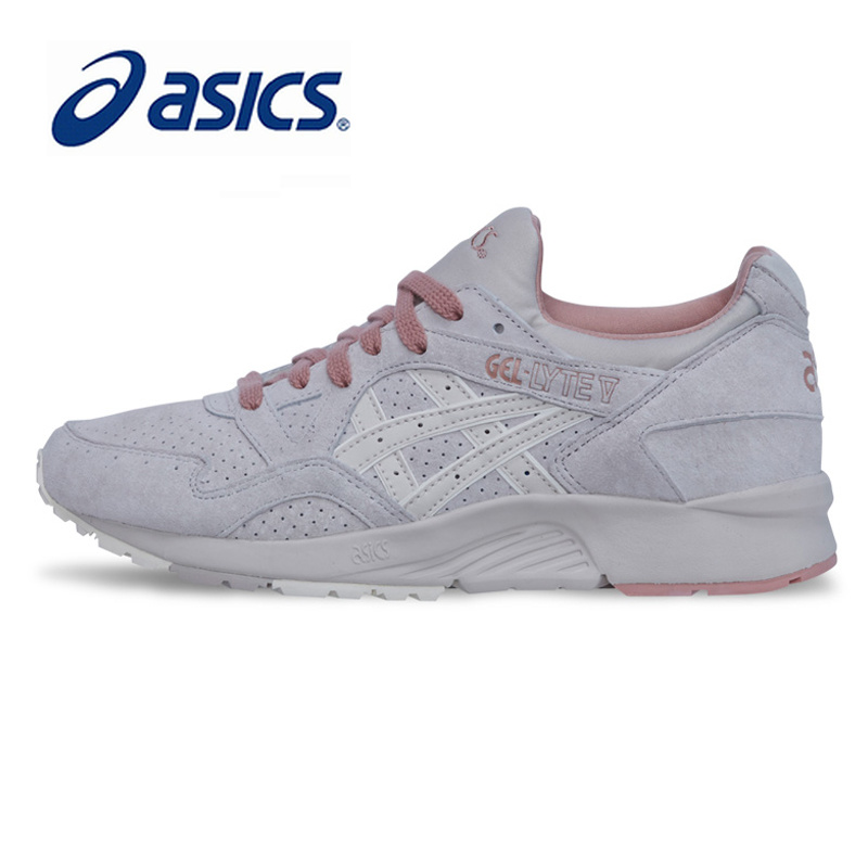 Original ASICS GEL-LYTE V GL5 Women Shoes Cushioning Anti-Slippery Running Shoe Active Retro Sports Low Top Shoes Sneakers H789L asics кроссовки gel lyte 10 4646 ss18