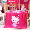 Promotion! Mickey Kitty Coral fleece baby bedding set ,baby quilt ,infant nursery set,140*100cm