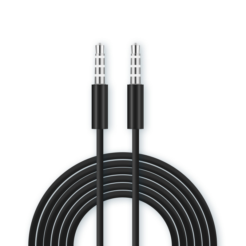 Male to male audio extension four section 3.5mm plug car AUX audio cable recording Cord for iPhone for Apple Samsung CD TAPE