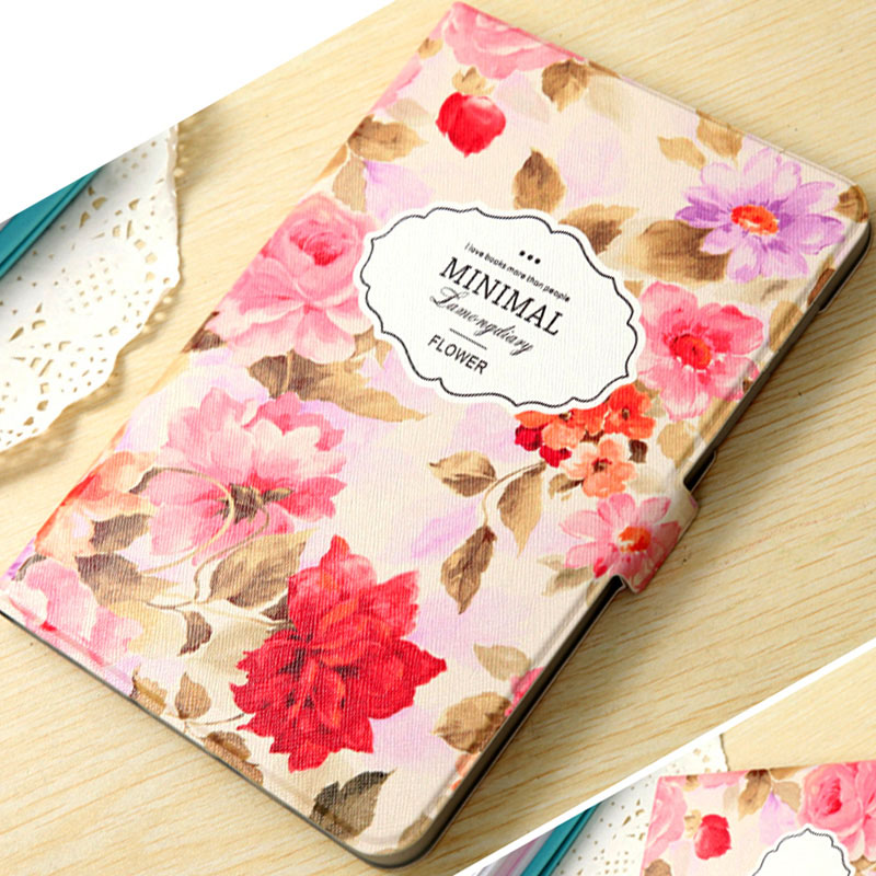 Fashion Painted PU Leather Stand Holder Smart Case Cover For Samsung Galaxy Tab S2 T710 T715 8.0 Inch Tablet Protective Sleeve