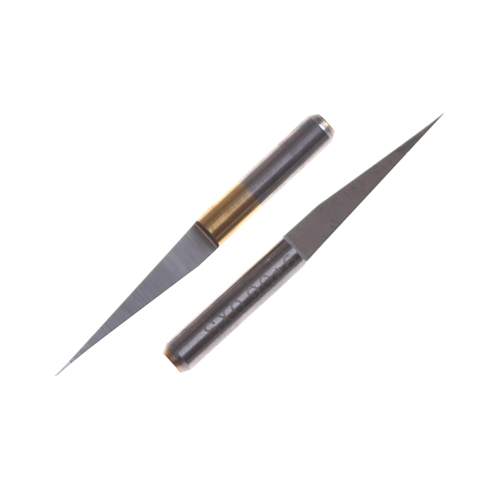 10Pcs 3.175mm Carbide PCB Engraving Bits CNC Router Tool 10 Degrees 0.1mm