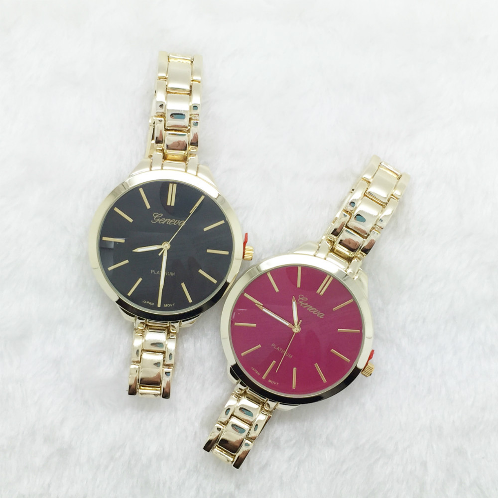 Classy color dial bracelet watch gold ladies watch popular relojes mujer Japan movement quartz montre femme