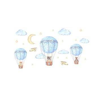 80 #215 130 cm na gorące powietrze ściana z balonami naklejki dla dzieci pokój winyl do wystroju wnętrz naklejka do dziecięcego pokoju pokój dziecięcy wystrój żłobka tanie i dobre opinie Zs Sticker Jednoczęściowy pakiet Płaska naklejka ścienna cartoon Naklejki na meble For Wall aktywność