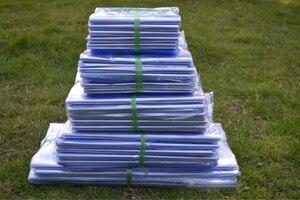 Detal 200 sztuk/partia wyczyść PVC termokurczliwe Wrap torba pokrowiec termokurczliwe płaskie torby Film kosmetyki opakowanie plastikowe...