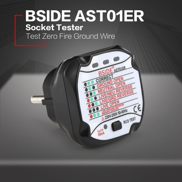 BSIDE AST01ER Socket Outlet Tester Circuit Polarity Voltage ...