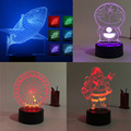 Hot Kid Girl Christmas Gift 3D Visual Led baby Sleeping Nightlight Touch USB Living Bedroom Table Atmosphere Lamp dolphin