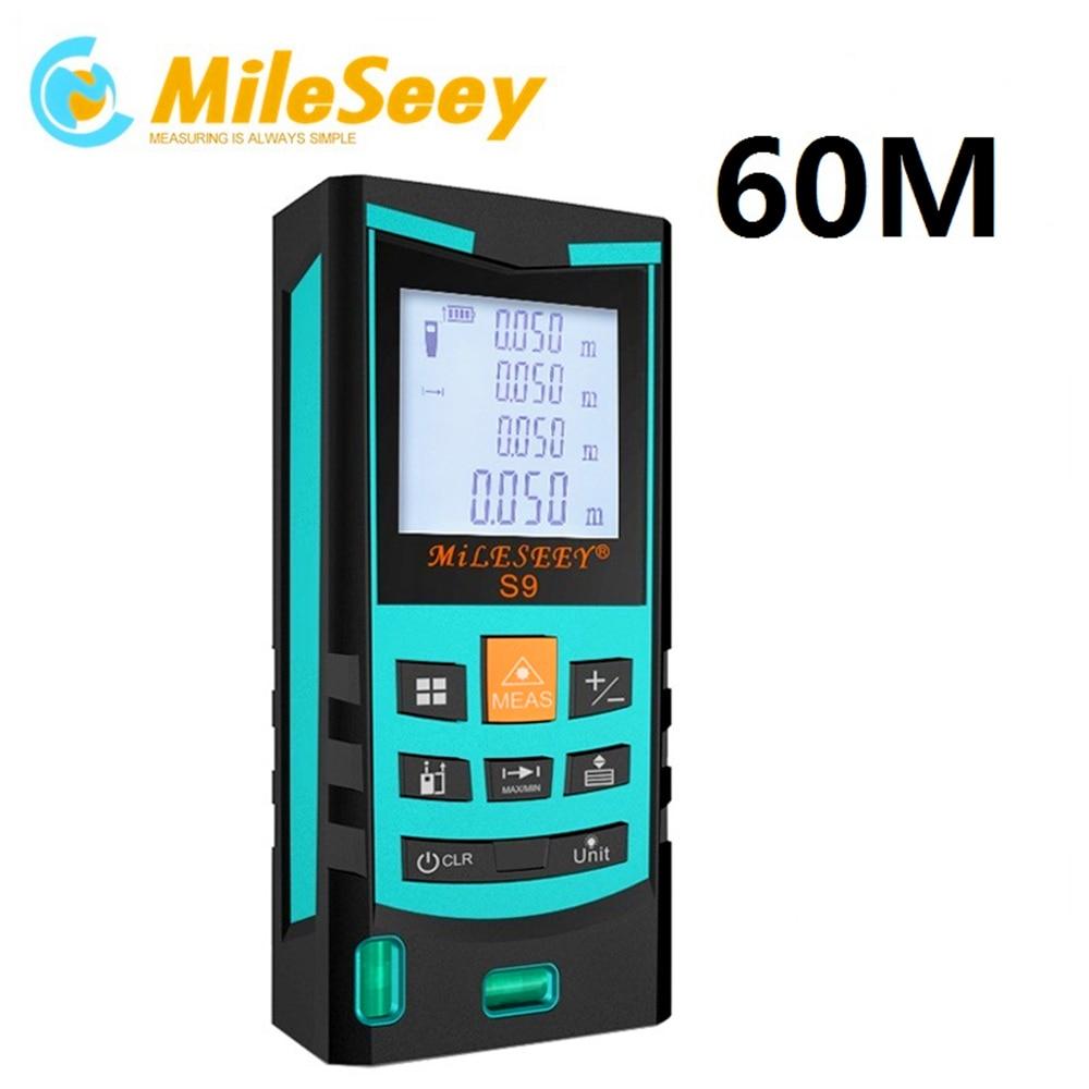 laser distance meter Mileseey S9 40M 60M 80M 100M laser range meter rangefinder laser slope measure Blue Special counter  цены