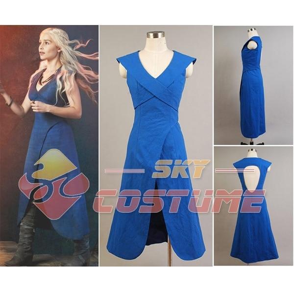 Juego de tronos Daenerys Targaryen Madre de dragones Vestido azul - Disfraces
