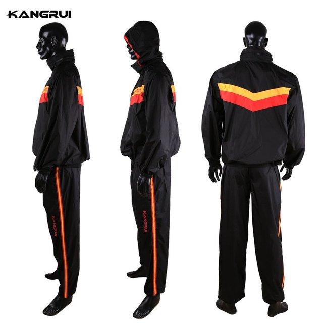Red Black Waterproof airproof Sweat coat sauna suit men women running sport fitness uniform lose weight reduce weight clothes