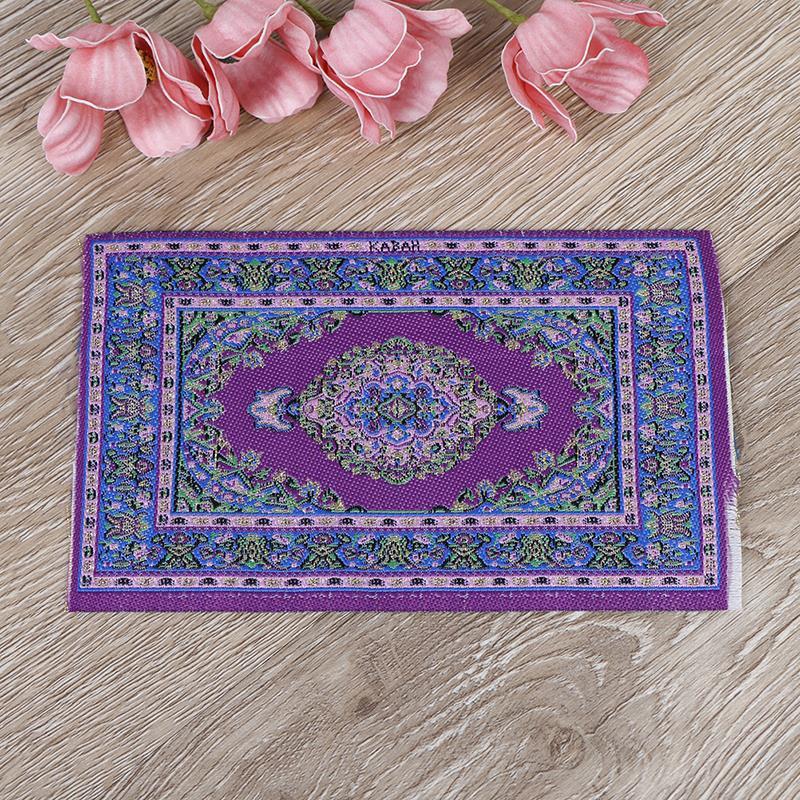 "Dollhouse Miniature Small  Braided Rug 3/"" x 4/"" lavender /& white.1:12 scale"