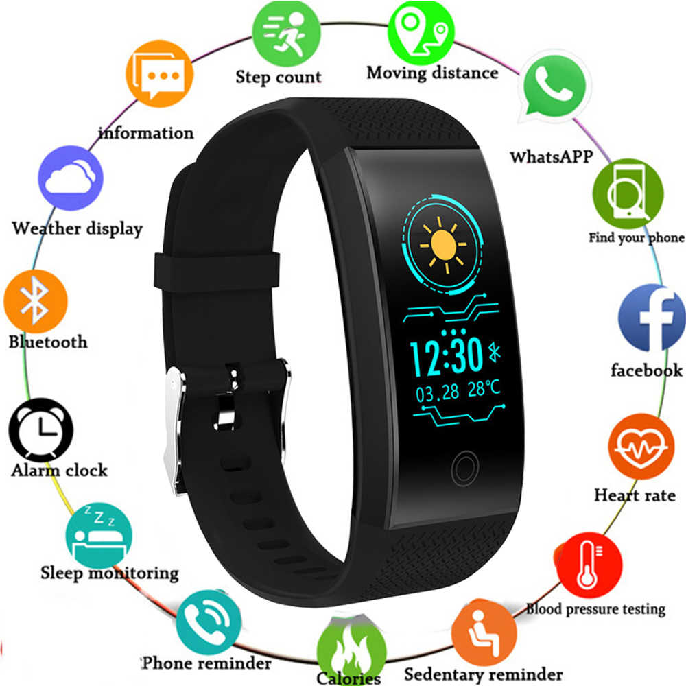 Smart Bracelet IP68 Waterproof Smartband Heart Rate Sleep Monitor Sports Passometer Fitness Tracker Bluetooth Smartwatch