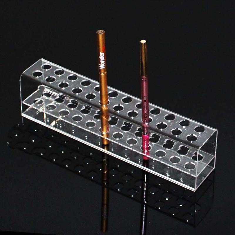 High Quality Acrylic Pen Pencil Stand Holder Makeup Cosmetic Brush Storage Organizer Rack Eyebrow pencil Jewelry Display Shelf