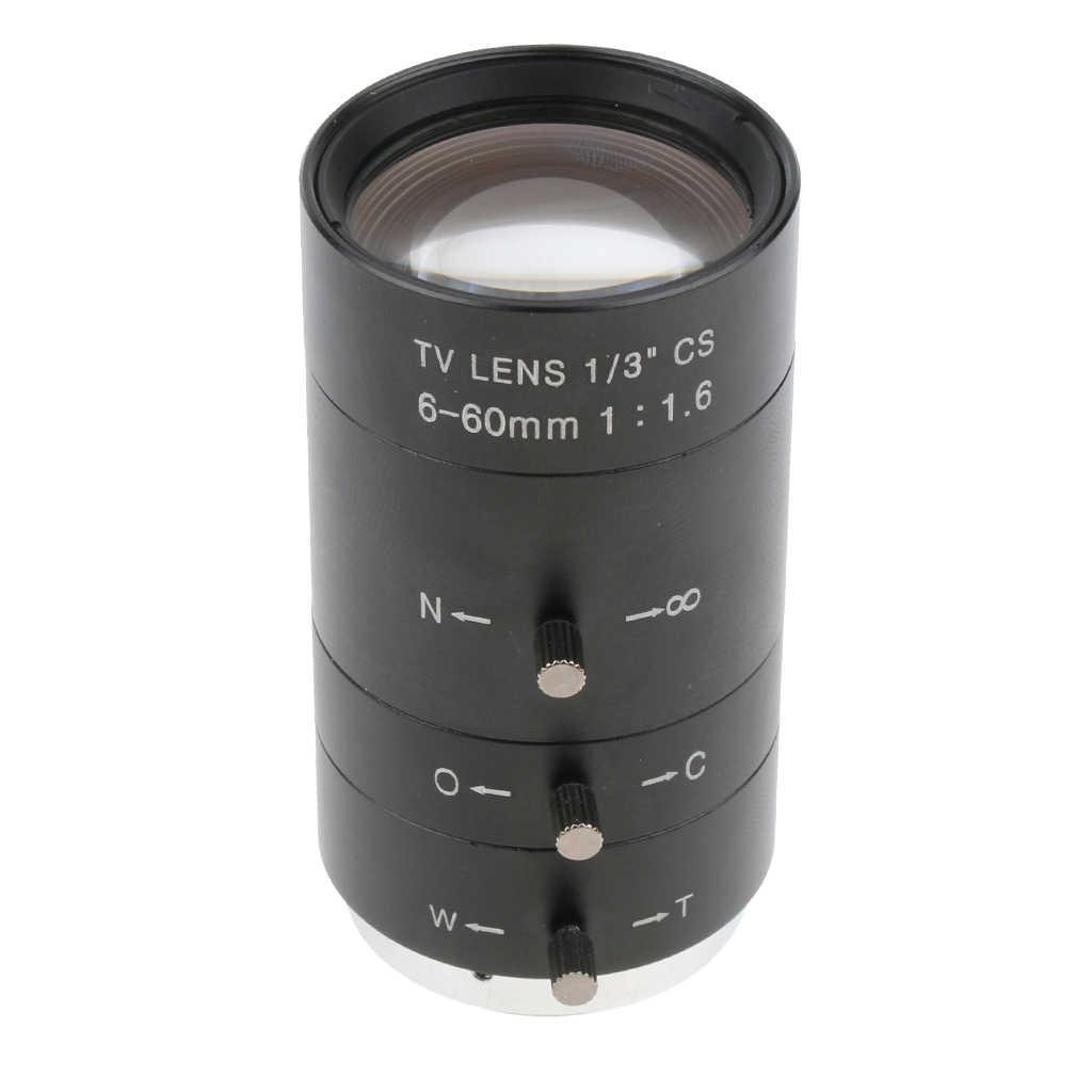 """1 PCS 6-60mm 1/3 """"CS Ống Kính Ống Kính CAMERA QUAN SÁT HỒNG NGOẠI F1.6 Zoom Tay Hướng Dẫn Sử Dụng Hoa Tán Cho IP CAMERA QUAN SÁT Camera CCD 50-5.7 Ngang Góc"""