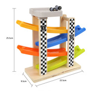 Children S Early Education Educational Toys Gliding Elastic Scooter Wooden Taxi Car Roller Coasters Walk FL