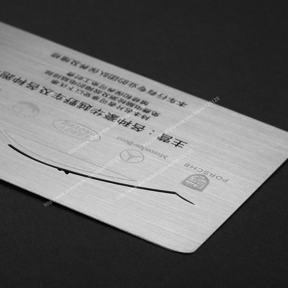 Personality Bump-map Cutout Quality Stainless Steel Business Metal Card