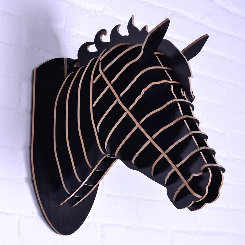 Sculpture de cheval nodique, tête de cheval pour la décoration murale, décorative, artisanat en bois, articles de fantaisie, mur de tête d'animaux, artisanat de cheval en bois