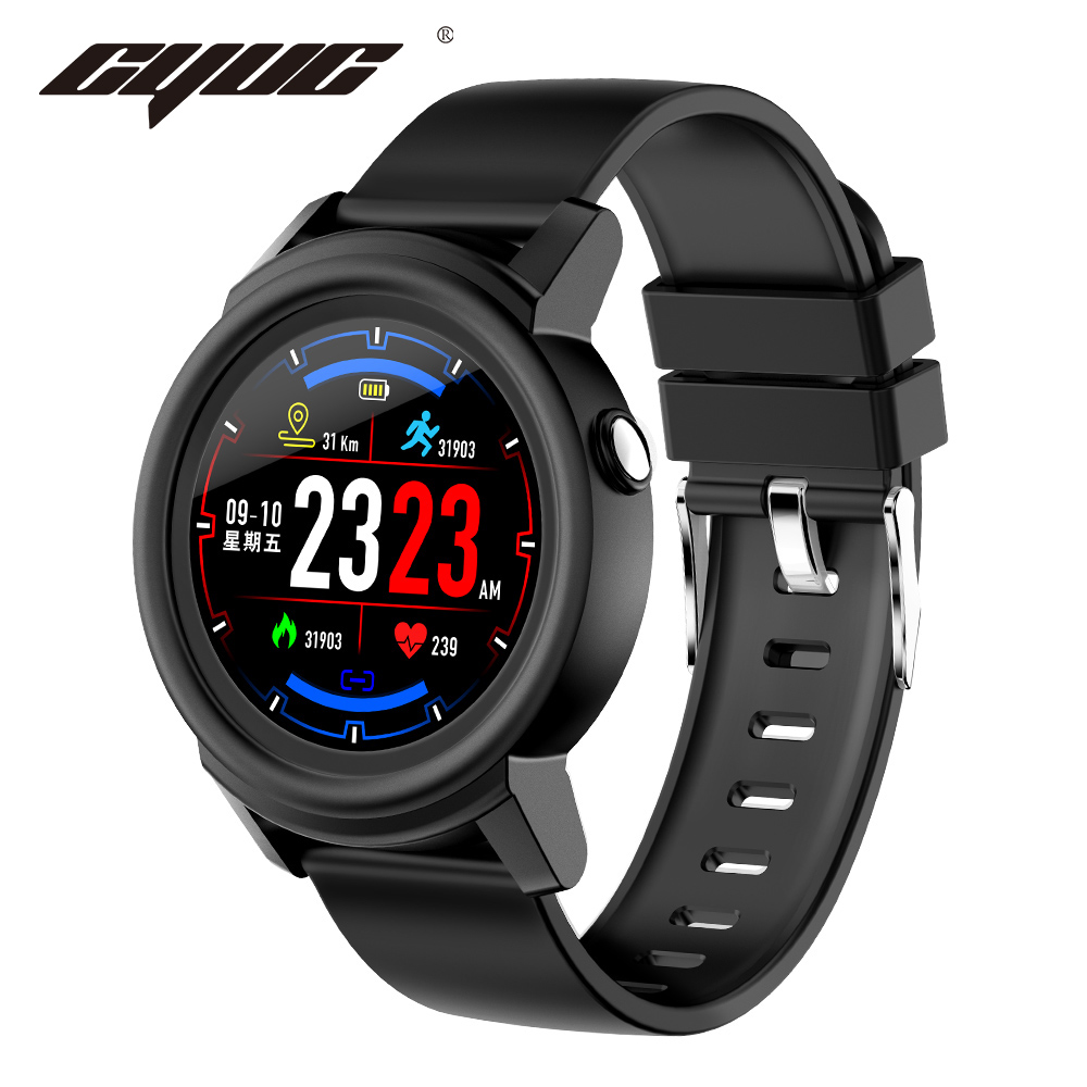 CYUC NY01 Smart Watch 240*240 IPS screen color Message Reminder Real-time Heart Rate Monitor Smartwatches Sport Fitness Tracker new garmin watch 2019