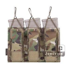 Image 3 - حقيبة إيمرسون التكتيكية الثلاثية المفتوحة 5.56 & مسدس مجلة الحقيبة ايمرسونجير مول/PALS ماج الحقيبة الحافظة الناقل Airsoft العسكرية