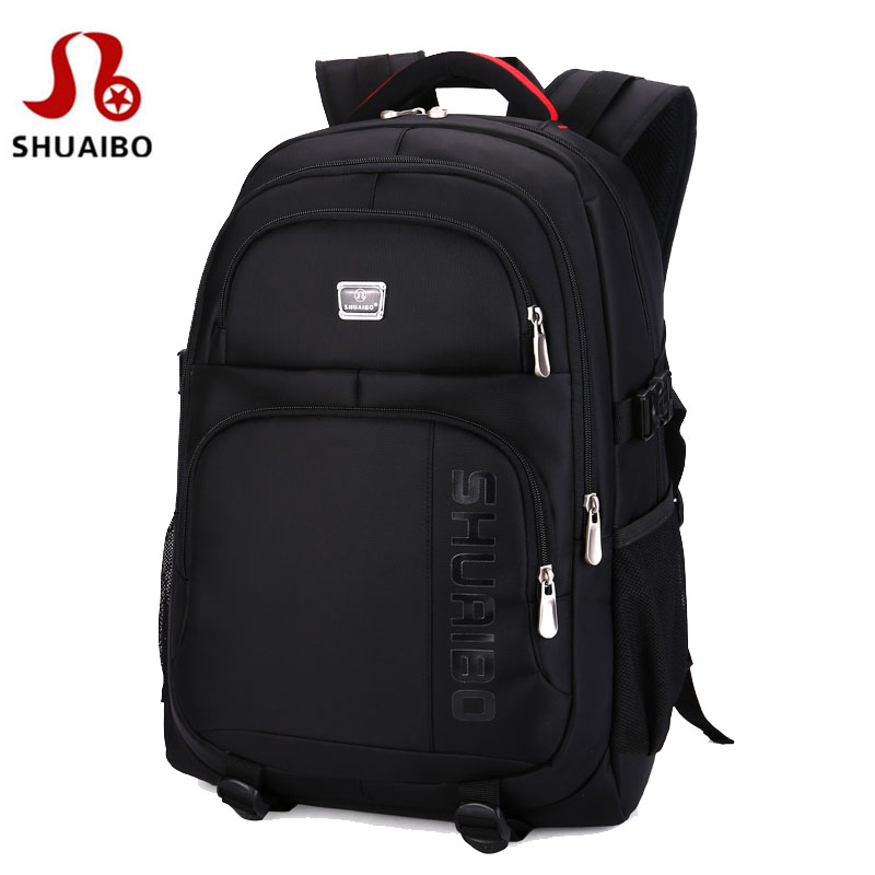 SHUAIBO brand men's business Backpack 15.6 inch Laptops Backpacks travel waterproof school bags large capacity computer book bag foru design 600d fashion backpack brand design school book bag polyester bag men computer packsack swiss outsports backpacks